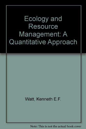 9780070685734: Ecology and Resource Management; a Quantitative Approach