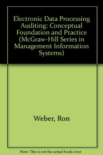9780070688308: EDP auditing: Conceptual foundations and practice (McGraw-Hill series in management information systems)