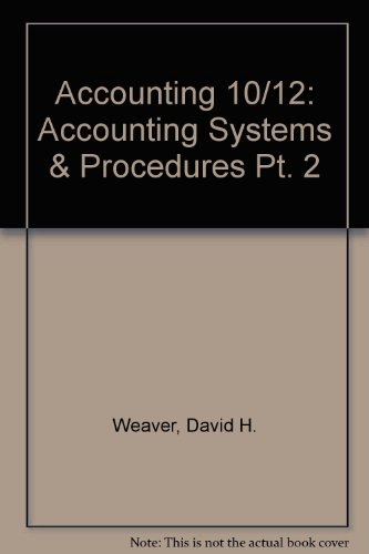 9780070689022: Accounting 10/12: Accounting Systems & Procedures Pt. 2 (Accounting 10/12 series)