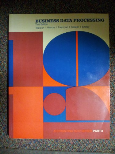 9780070689039: Accounting 10/12: Business Data Processing Pt. 3 (Accounting 10/12 series)