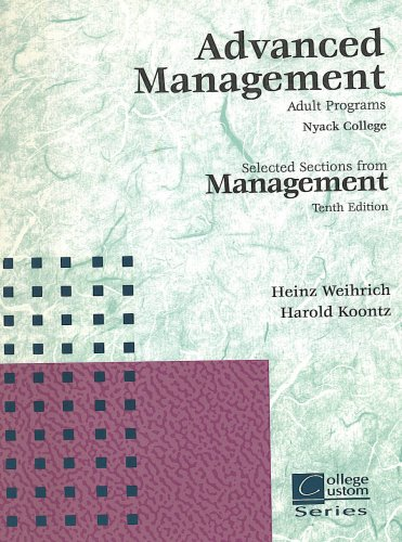 9780070690134: Advantaged Management; Adult Programs (Custom College Series; Nyack College)