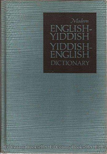 9780070690387: Modern English-Yiddish, Yiddish-English Dictionary (English and Yiddish Edition)