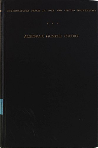 9780070690806: Algebraic Number Theory (International Series in Pure & Applied Mathematics)