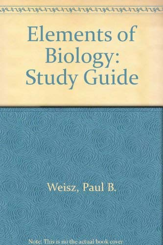 9780070691384: Elements of Biology
