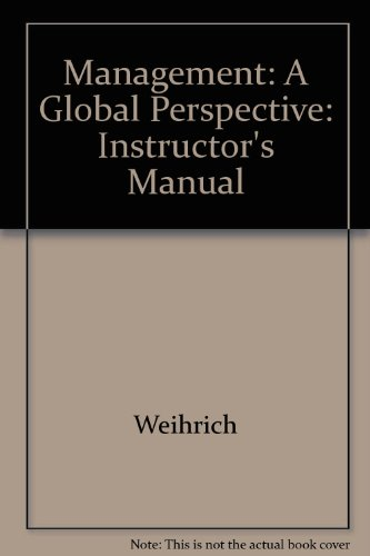 9780070691711: Management: A Global Perspective: Instructor's Manual