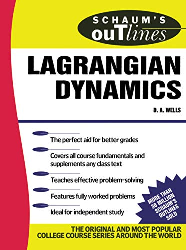 9780070692589: Schaum's Outline of Lagrangian Dynamics