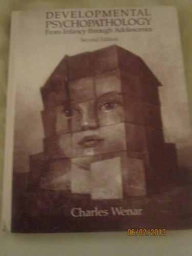 9780070692695: Developmental Psychopathology from Infancy Through Adolescence
