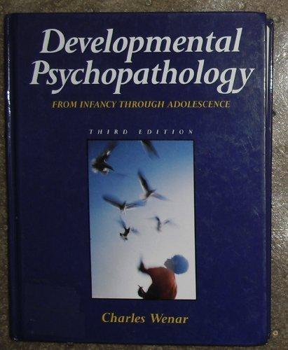 9780070692862: Developmental Psychopathology: From Infancy Through Adolescence