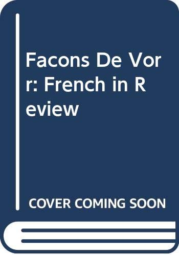 9780070692992: Facons De Vorr: French in Review (French Edition)