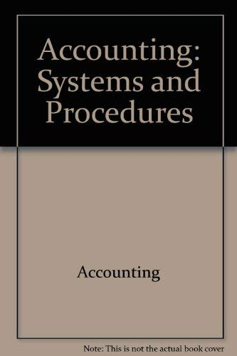 9780070693999: Accounting: Systems and procedures (McGraw-Hill accounting 10/12 series)