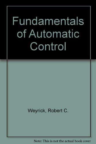 9780070694934: Fundamentals of Automatic Control