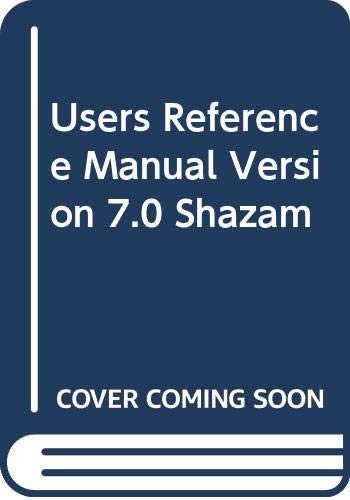 9780070695870: Users Reference Manual Version 7.0 Shazam
