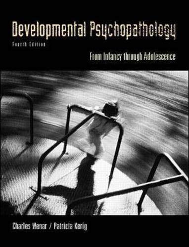 9780070696174: Developmental Psychopathology: From Infancy Through Adolescence