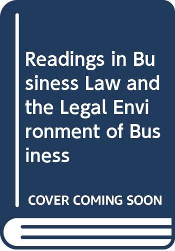 9780070699946: Readings in Business Law and the Legal Environment of Business