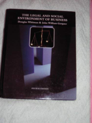9780070700055: The Legal and Social Environment of Business