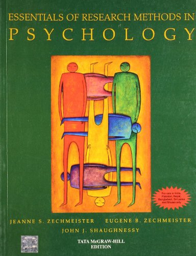 Essentials of Research Methods in Psychology: Zechmeister