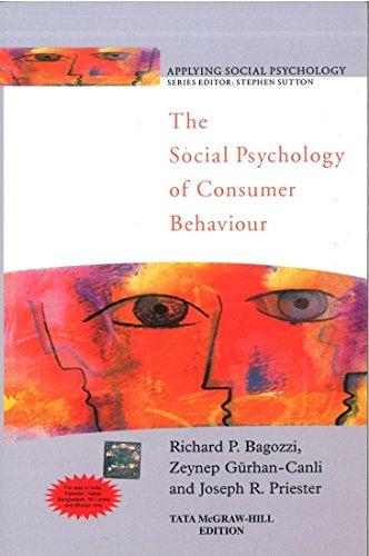 9780070700598: Social Psychology Of Consumer Behaviour