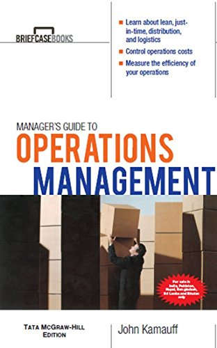 9780070700666: Manager's Guide to Operations Management