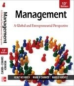 9780070700727: Management a Global & Entrepreneurial Perspective