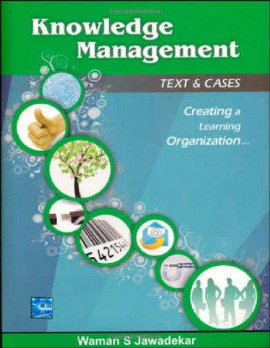Knowledge Management: Text & Cases: Waman S. Jawadekar