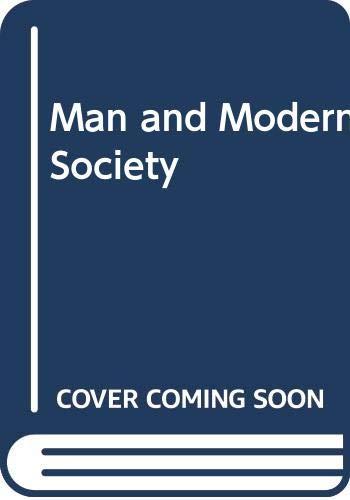 9780070701052: Man and Modern Society