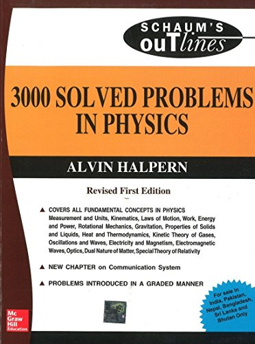 3000 Solved Problems In Physics Schaum S Outline Series By Alvin