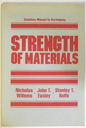 9780070702981: Solutions manual to accompany Strength of materials