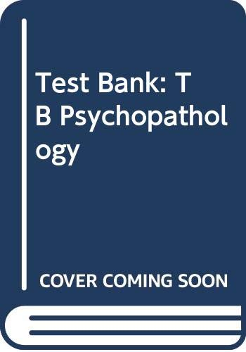 9780070703124: Tsbnk Psychopathology