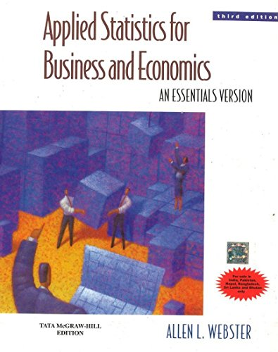 9780070703544: Applied Statistics For Business