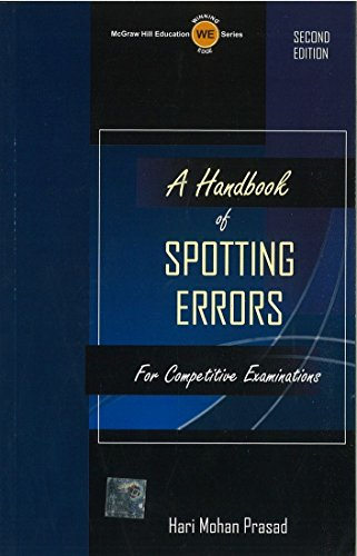 9780070704893: Handbook of Spotting Errors For Competitive Examinations, 2/e PB