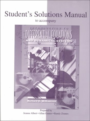 9780070705968: Introduction to Differential Equations and Dynamical Systems