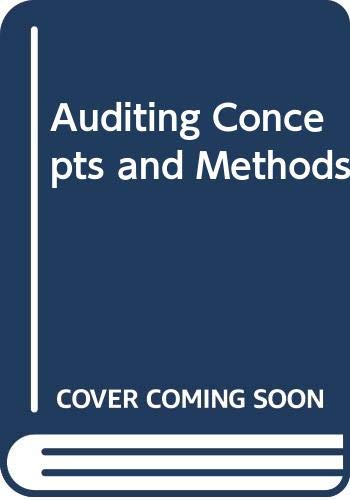 9780070706002: Auditing Concepts and Methods (McGraw-Hill accounting series)