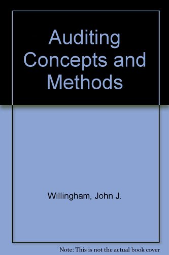 9780070706064: Auditing concepts and methods
