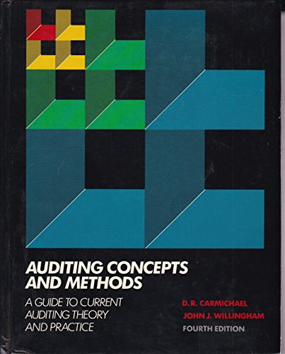 9780070706101: Auditing Concepts and Methods