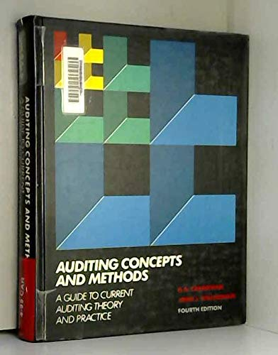 9780070706101: Auditing concepts and methods: A guide to current auditing theory and practice
