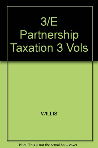 9780070706231: Partnership Taxation (Tax and estate planning series)
