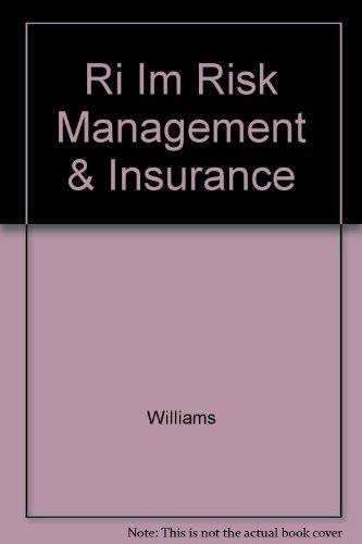9780070706316: Ri Im Risk Management & Insurance