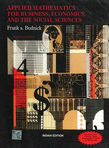 Applied Mathematics For Business, Economics And The: Frank Budnick