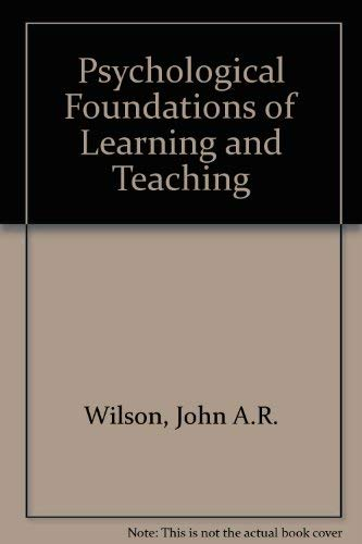 9780070708488: Psychological Foundations of Learning and Teaching