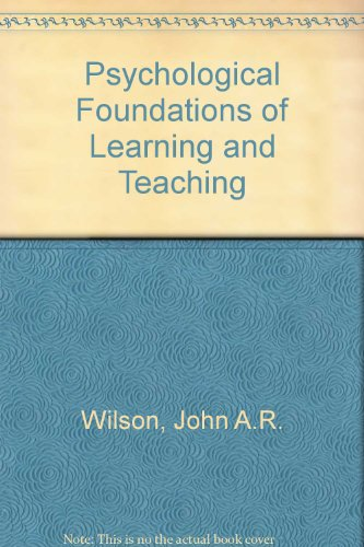 9780070708556: Psychological foundations of learning and teaching
