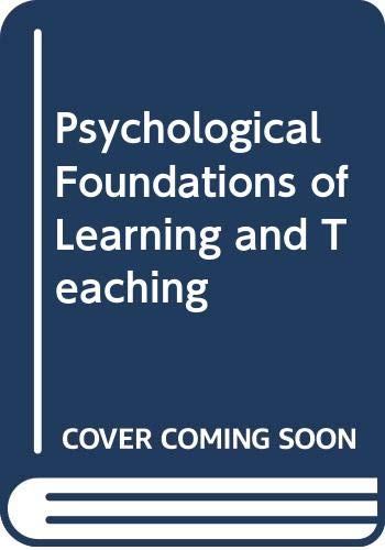 9780070708563: Psychological Foundations of Learning and Teaching