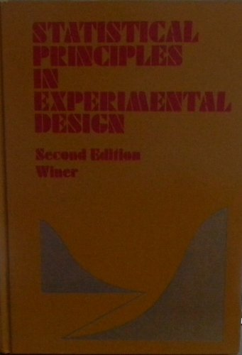 9780070709812: Statistical Principles in Experimental Design (McGraw-Hill series in psychology)