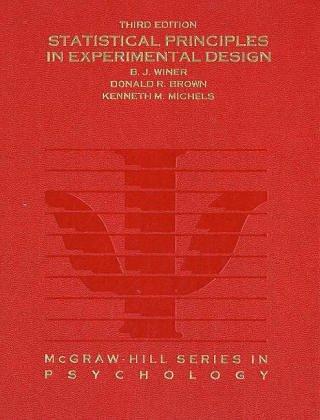 9780070709829: Statistical Principles In Experimental Design