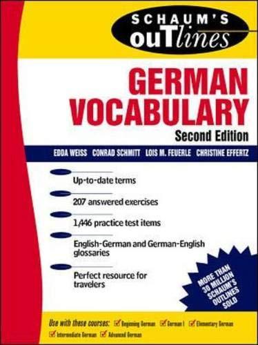 9780070711174: Schaum's Outline of German Vocabulary (Schaum's Outline Series)