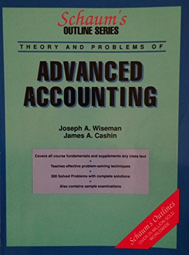 9780070711389: Advanced Accounting (Schaum's Outlines)