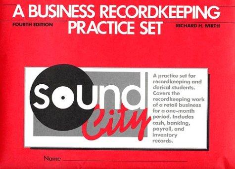9780070711471: A Business Recordkeeping Set: Sound City, Practice Set