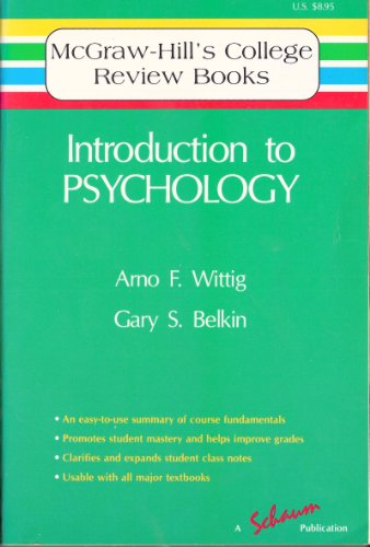 9780070712126: Introduction to Psychology (Mcgraw-Hill College Review Books Series)