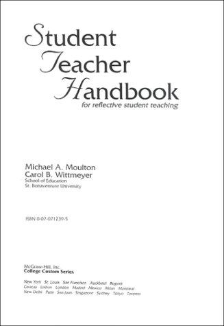 9780070712393: Student Teacher Handbook: For Reflective Student Teaching