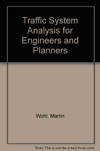 9780070712744: Traffic System Analysis for Engineers and Planners