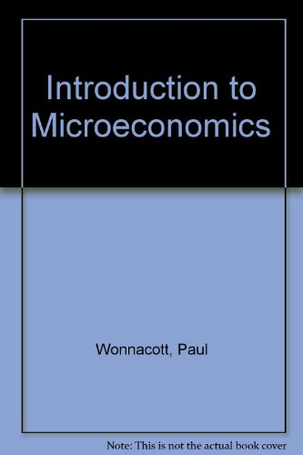 9780070716193: An Introduction to Microeconomics